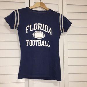 FLORIDA CHAMPION FOOTBALL BLUE TEE